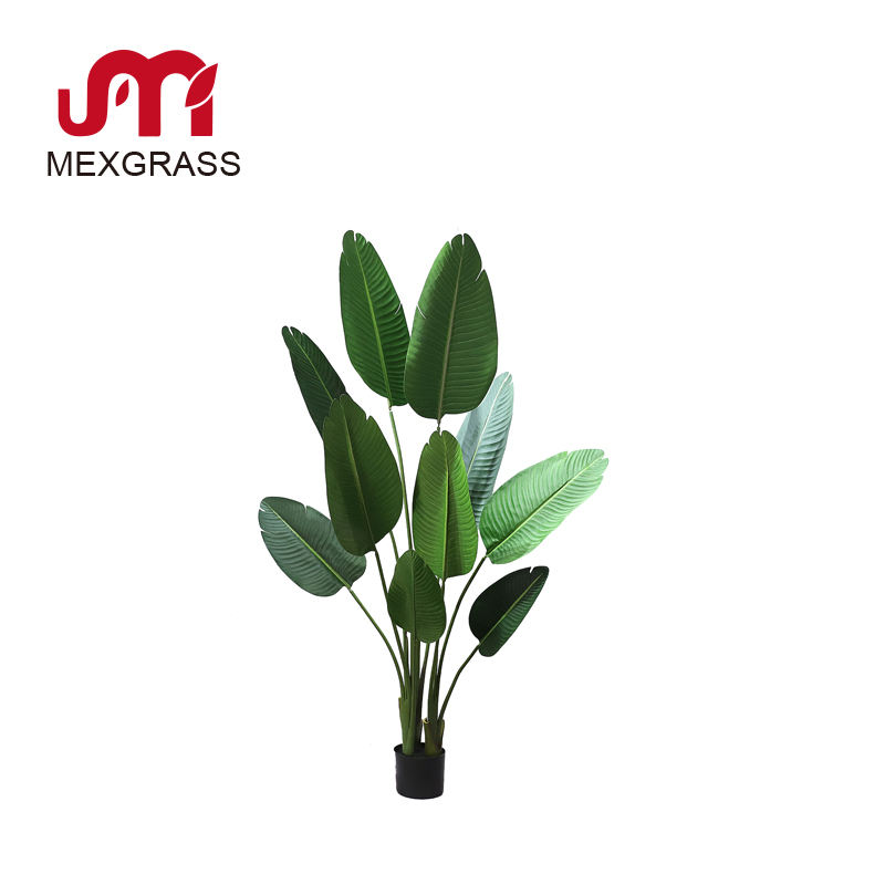 Factory wholesale indoor 1.6m hard rubber leaves PU plant tree traveler banana tree artificial plants home decor