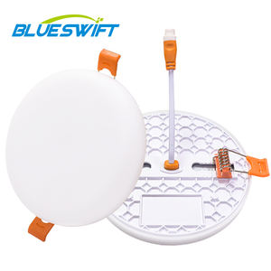 BLUESWIFT Factory Price Wholesale Down Frameless Round Recessed 6w 12w 18w Led Panel Light