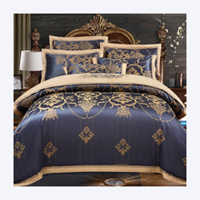 Skin feeling luxury wedding jacquard polycotton duvet cover and bed sheet bedding sets for hot selling