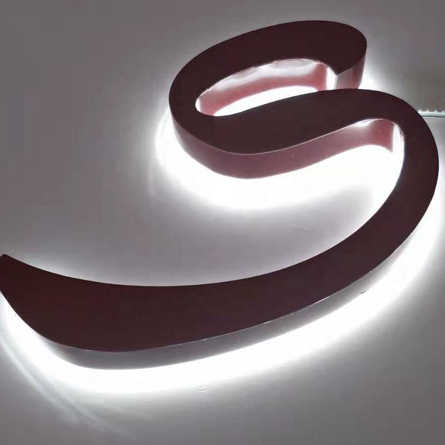 storefront sign logo backlit led logo backlit letter signage customized outdoor 3d wall letter sign