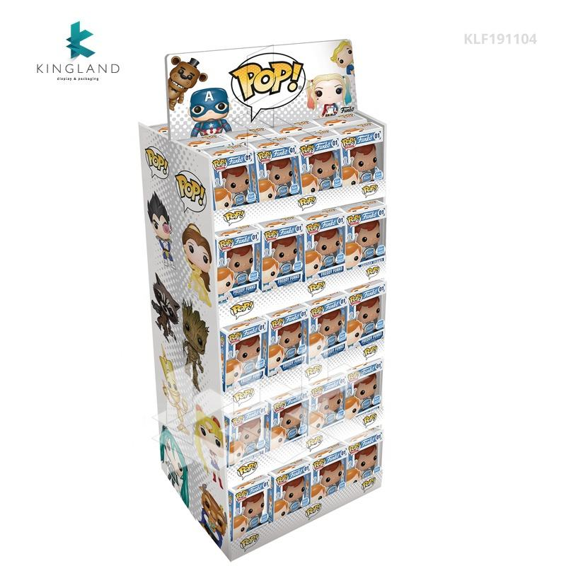 Wholesale Advertising Funko POP Cardboard Display for Toy, Easy Assemble Corrugated Funko POP Vinyl Marvel Doll Display Rack