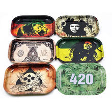 Cheap Wholesale Onuoss Smoking Shop Custom Metal Tin Rolling Tray