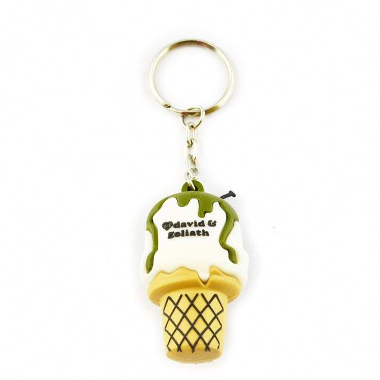 Logo Custom Low MOQ Soft Office 3D Pvc Jordan Keychain