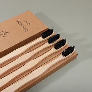 Stock now recyclable biodegradable bamboo toothbrush 4 tooth brush set