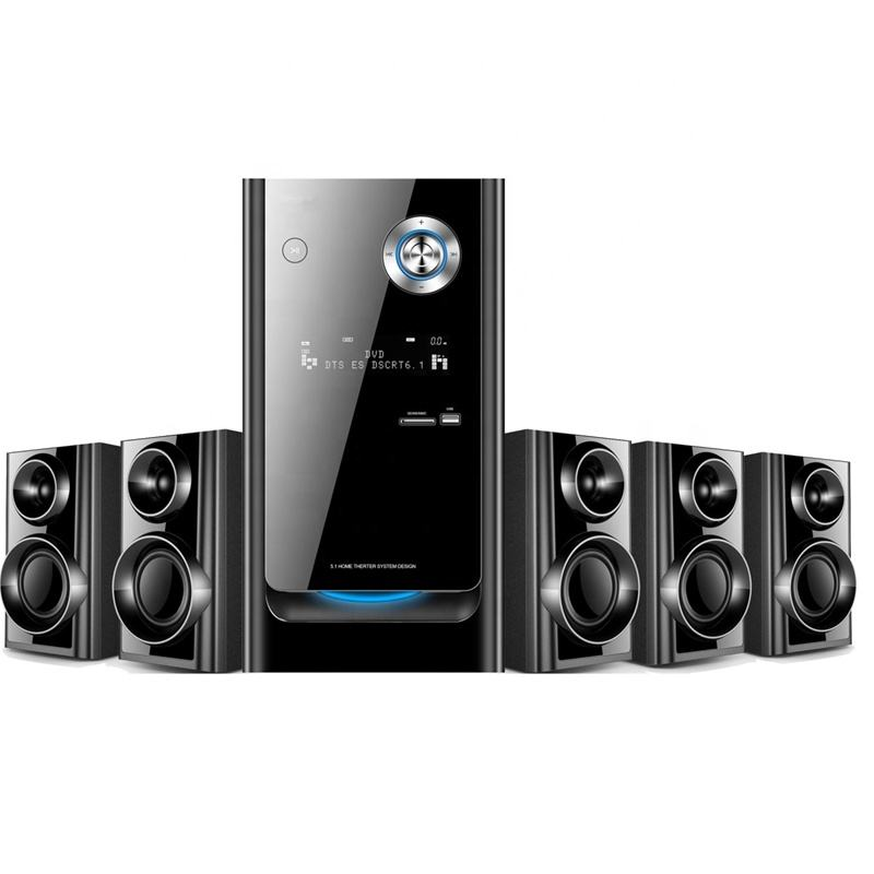 TK-9010 Sound System 2.1 3.1 5.1 Home Theater System dengan BT/FM/USB/MP3/SD/Tampilan LED/Remote Control