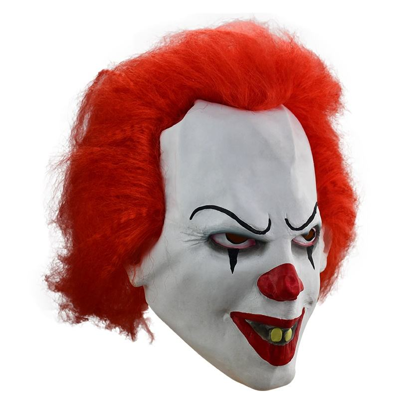 Hot Sale Custom Horror clown mask made of latex for halloween and Diabolical clown mask