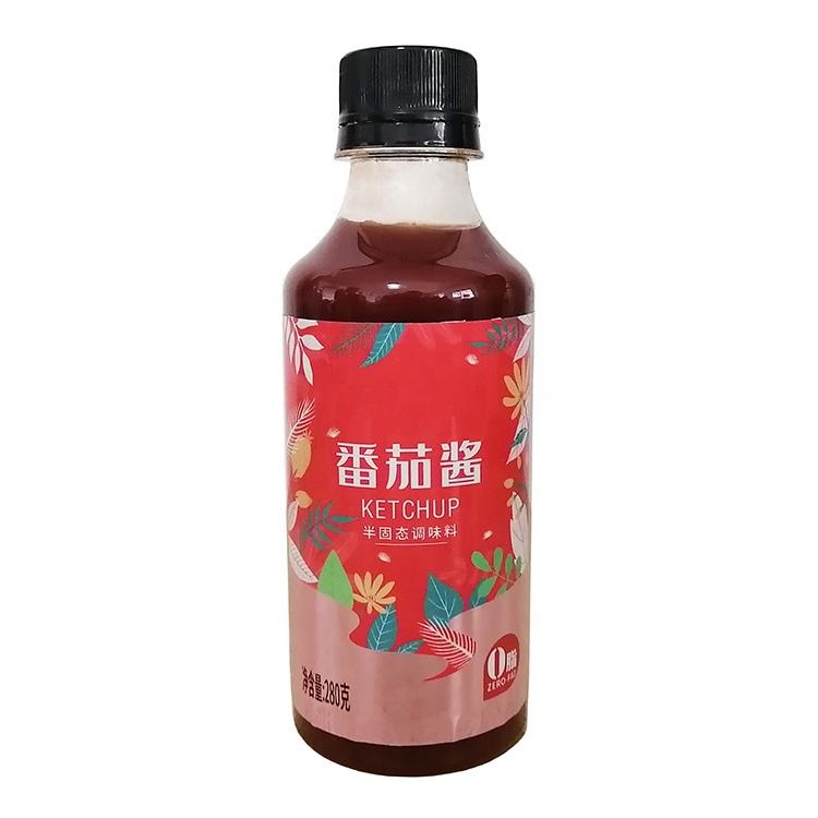 Zero Fat Plastic Bottle Jars Packaging Tomato Product 280グラムPaste