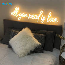 All you need is love wedding neon sign 12V led 3d letters led acrylic neon rope light custom made neon acrylic sign