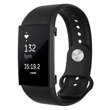 Wholesale Newest Smart Watch For Fitbit Charge 2 Full Coverage Plating TPU Watch Case(Black)