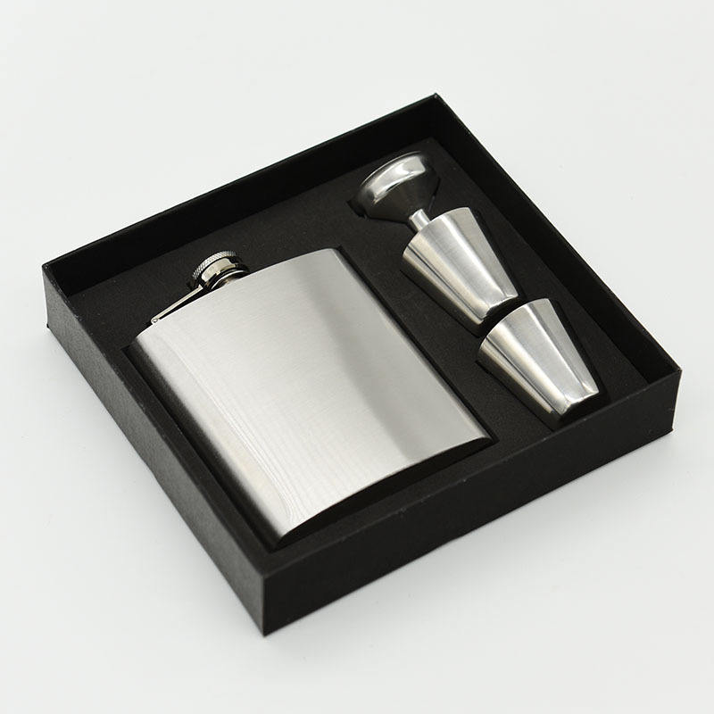 Seaygift whiskey 7oz ounce Personalized Groomsmen gift ,best man gift stainless steel hip flask set