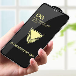 9H OG high transparency full cove full screen  full glue for iphone Xs Max and 11 pro max no crack glass screen protector