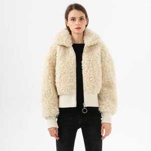 Wholesale Fashion Women's Winter Lamb Wool Winter Jacket Women Coat