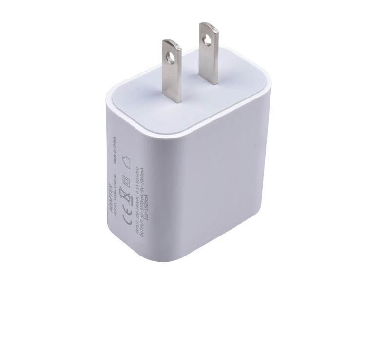 2020 new arrivals USB Type C Wall Charger 18W PD Charger adapter and Cable for Phone 12 and macbook