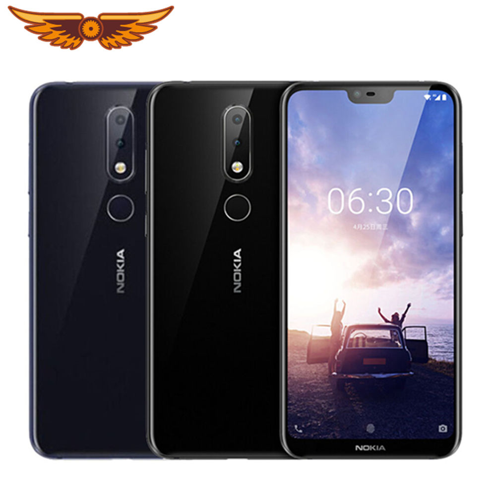 For Nokia 6.1 Plus Original Octa-core 5.8 Inches 4GB RAM 64GB ROM LTE 16MP 2160P Fingerprint Smartphone Unlocked Cellphone