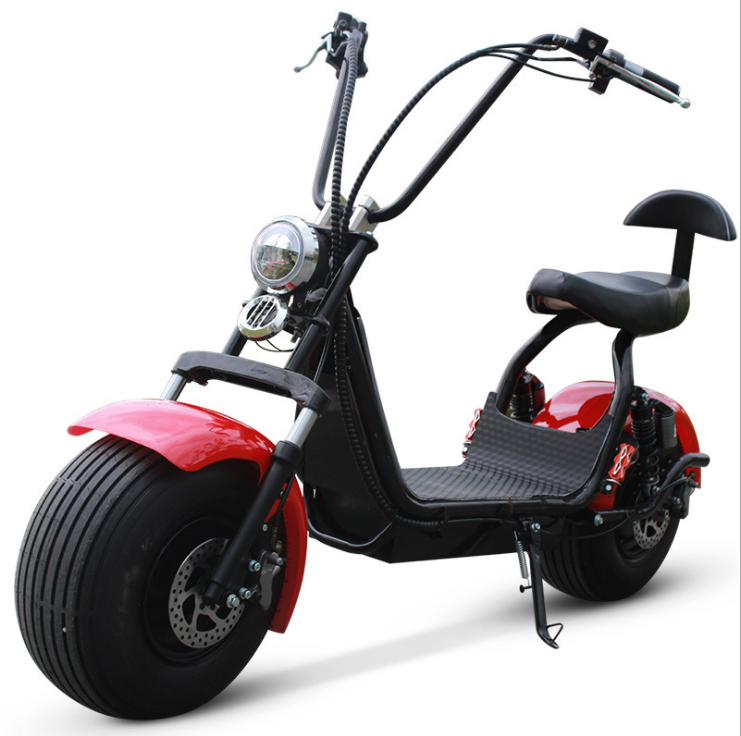 Motor 60V 12AH Battery HOT SALE 1500ワット2000 Wattビッグホイール脂肪タイヤPedal Assisted Electric Scooter Motorcycle CITYCOCO