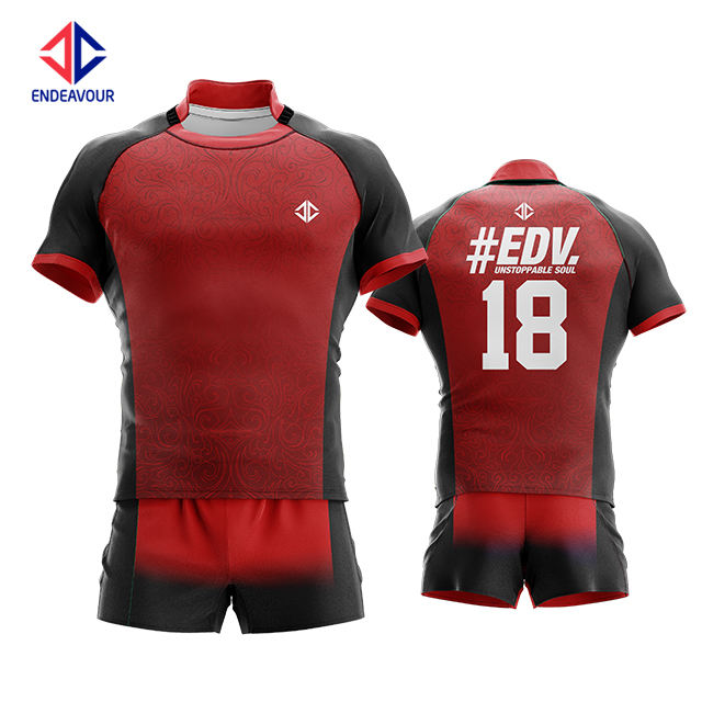 team sport rugby jersey set sublimated