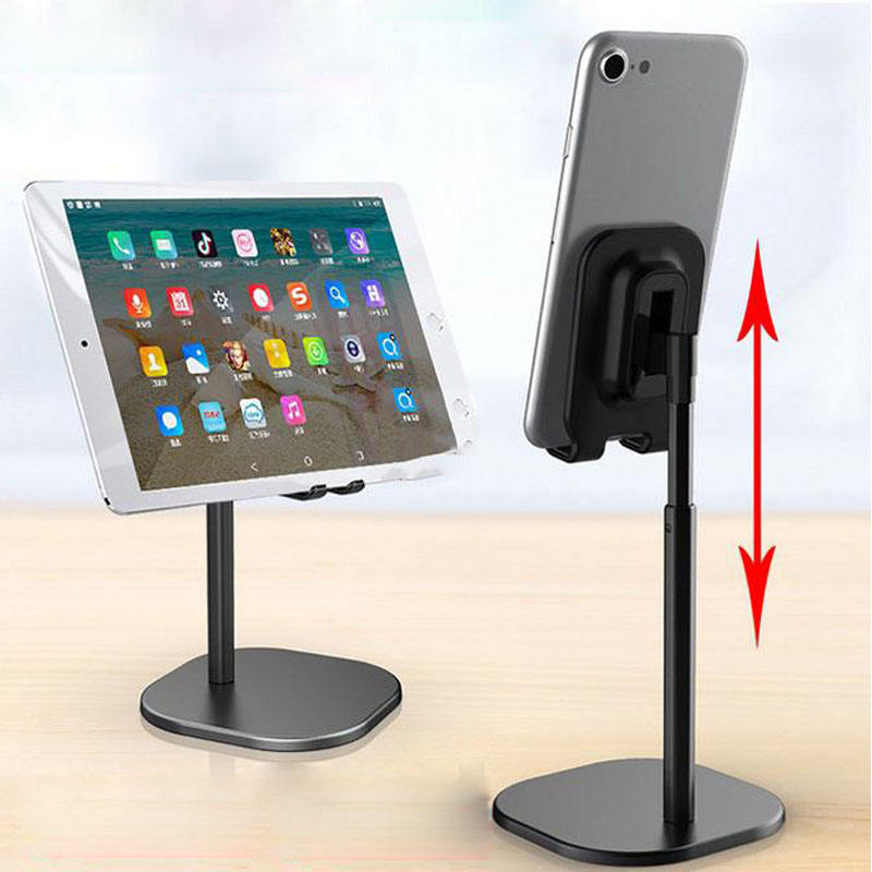 Factory Wholesale Mobile Phone Stand Luxury Aluminum Adjustable Stretchable Mobile Phone Tablet PC Desk Stand