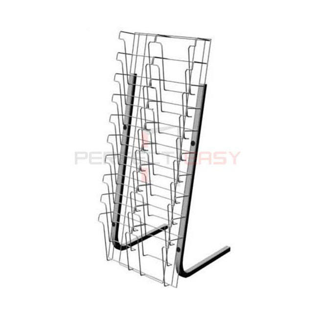 Customized stainless steel metal magazine newspaper rack display for sale