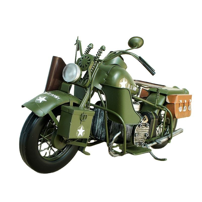 Diecast Toy Vehicles Harley Motorcycle Model Antique Classical Motorbike Model Handmade For Home Decoration