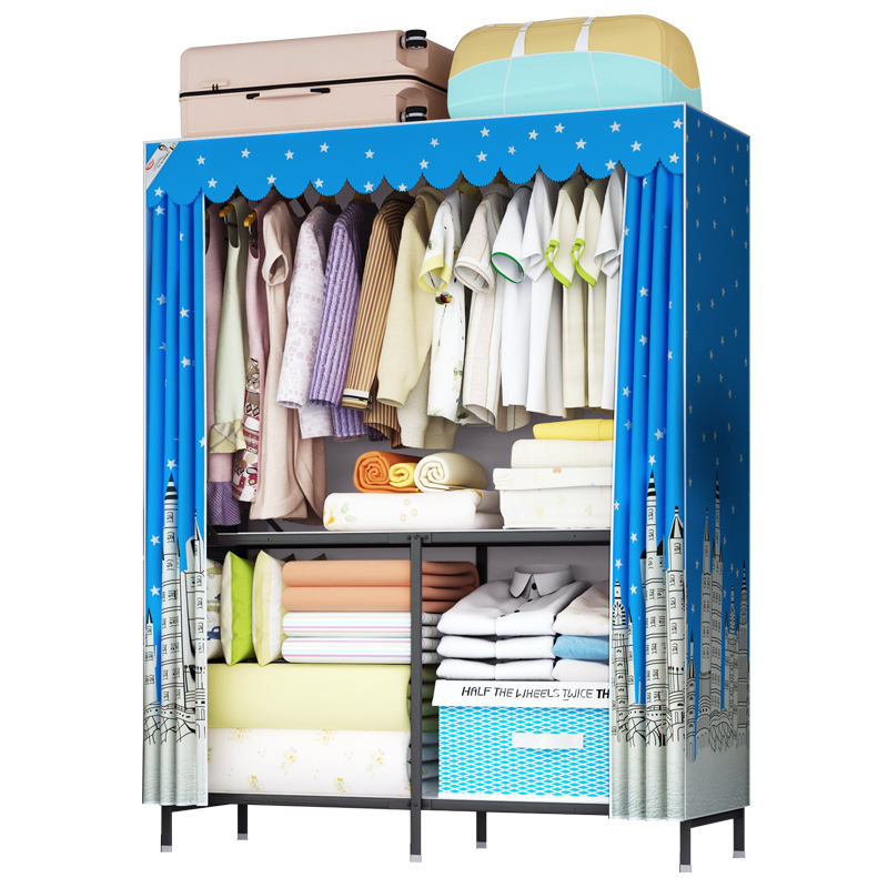 Foldable Price Wardrobe Hot Sale Fabric Bedroom Furniture Folding Portable Baby