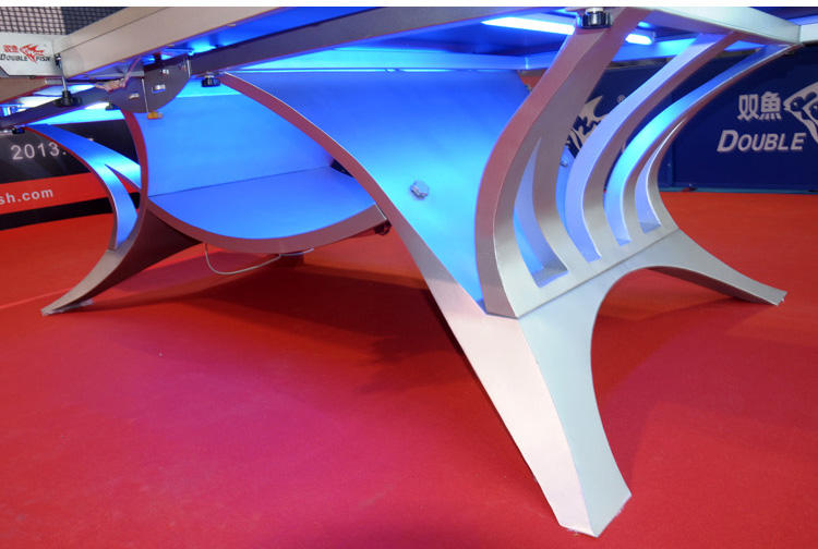 ITTF Ping Pong Power Double Fish Table Tennis Table Supplier With Light