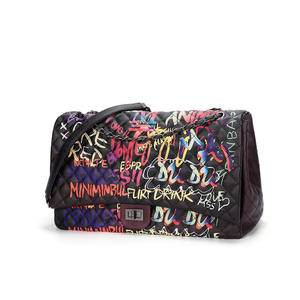New Fashion Colorful Painted Graffiti Bags Ins Girl graffiti jelly purses Chain Bag Large Capacity Shoulder Hand Bag