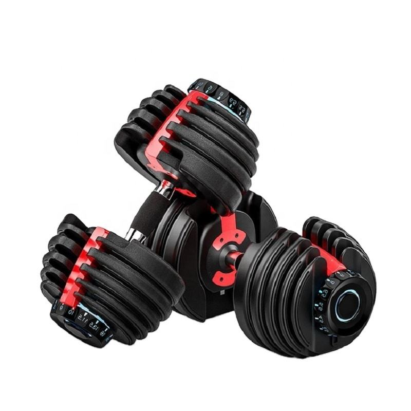 IN STOCK 552 Cheap Dumbbell Sets Weights Home Gym Fitness Equipment 52.5lb Smart Adjustable Dumbbell