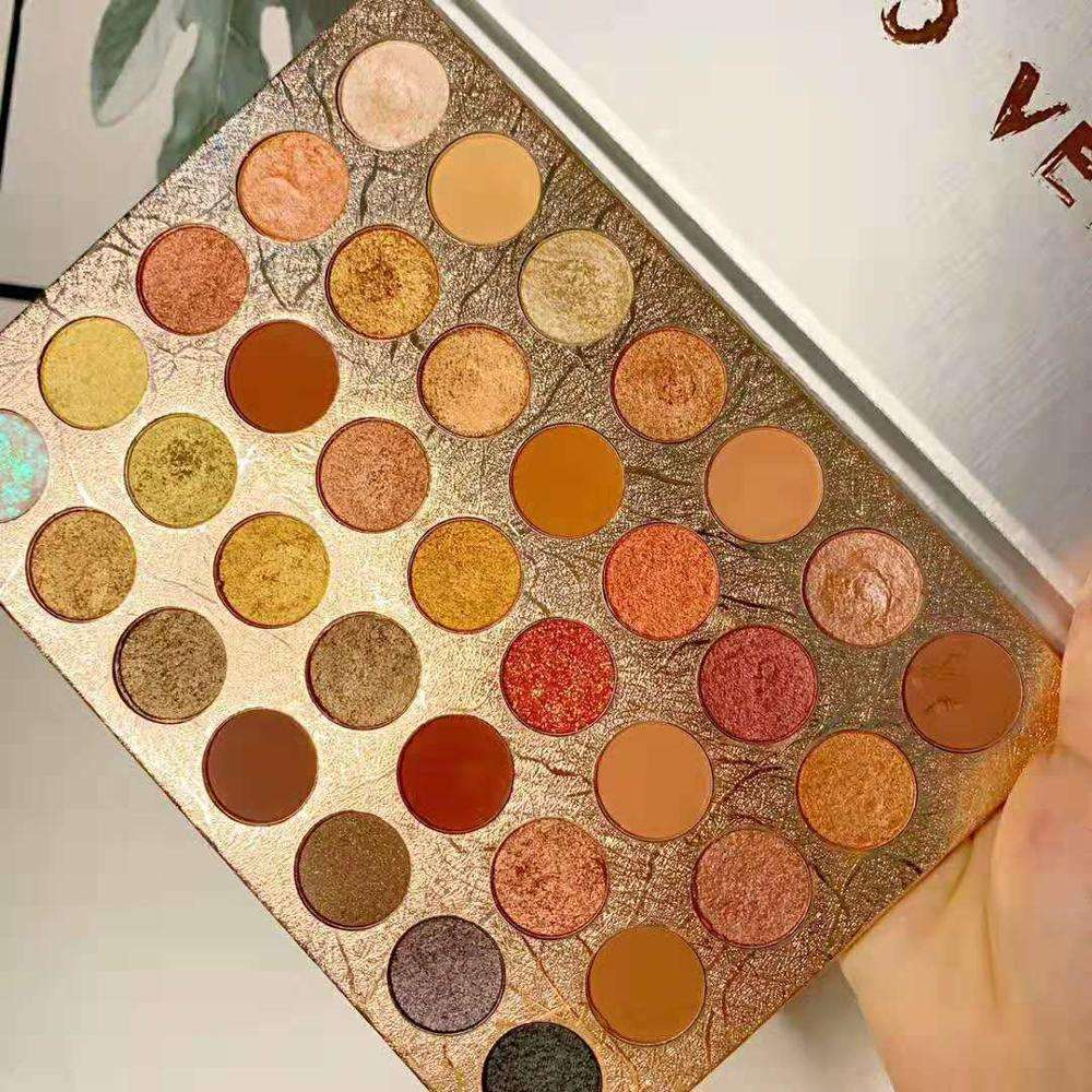 Private Label Cosmetics Glitter Matte Eyeshadow Palette 35 Color Makeup Palette