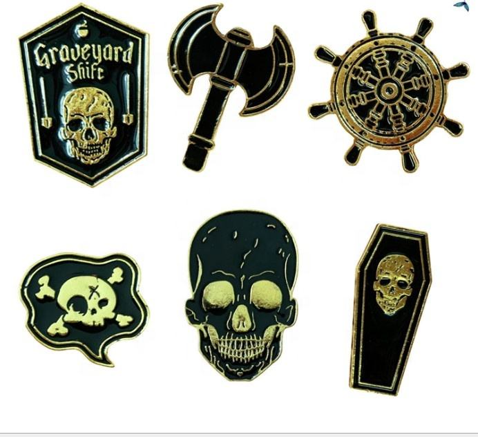 black book Human skeleton Pins Black Dark Humor Brooches Badges Backpack Denim Shirt Lapel Pins Punk Dead Jewelry Gift NEW5