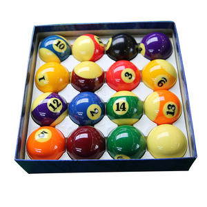 Wholesale Factory Supply Custom Logo Colorful Pool Snooker Table 3A Billiard Ball Set