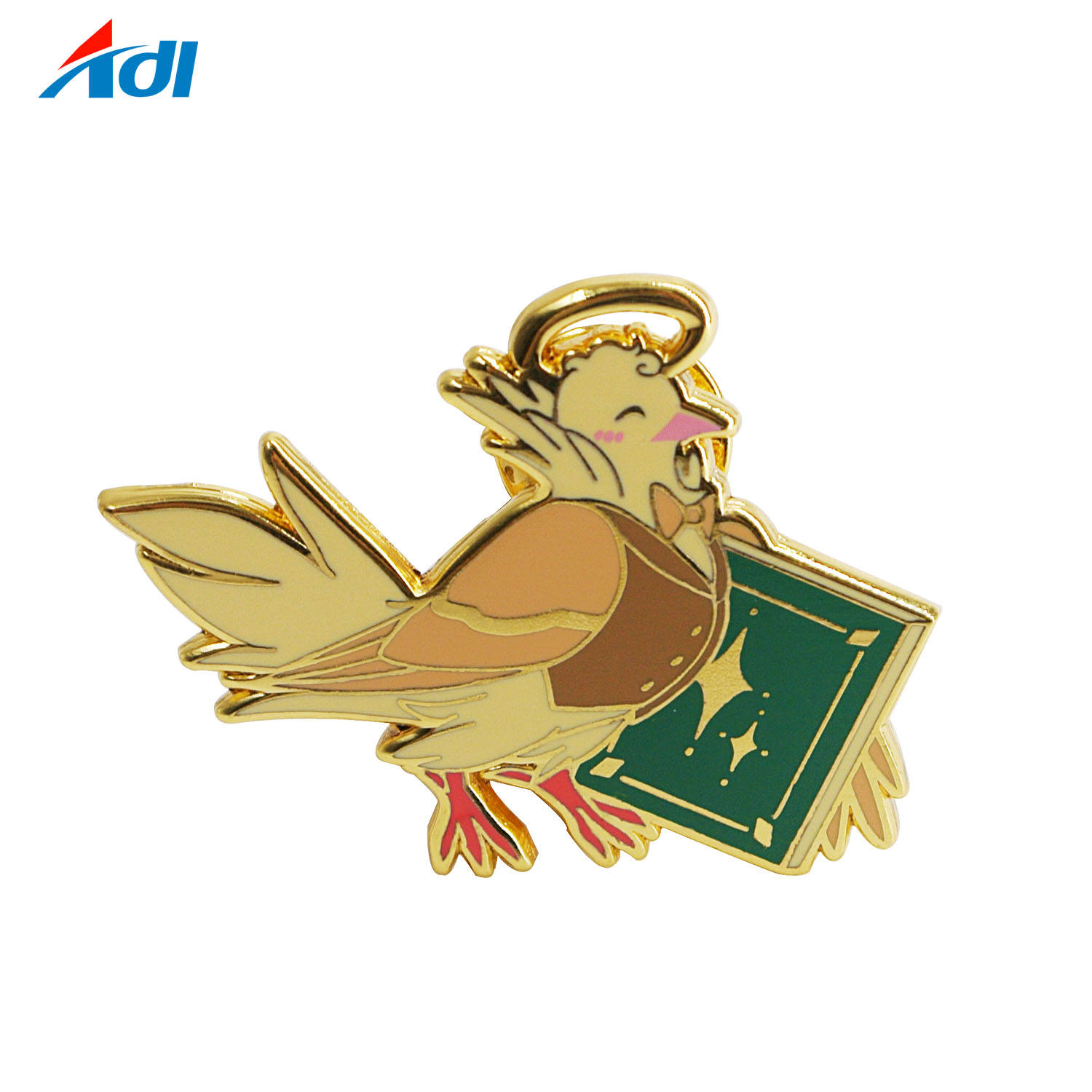 Craft Custom Die Casting Metal Gold Hard Enamel Bird Lapel Pins Badge