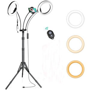 Big Flexible Studio Makeup Cell Phone Holder Tiktok Led Fill Circle With Tripod Stand Selfie Ring Light For Live