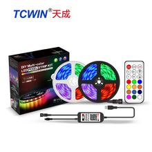 New APP Bluetooth infrared 21 keys remote control 5050 RGB IC 1812 pixel led strip set with USB