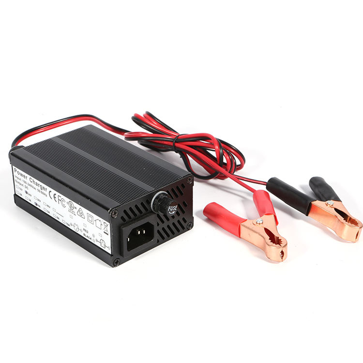 TengShun 150W aluminum shell digital battery 12v 10a 24v 5 a automatic lead acid car battery charger 12v 24v 5 a auto