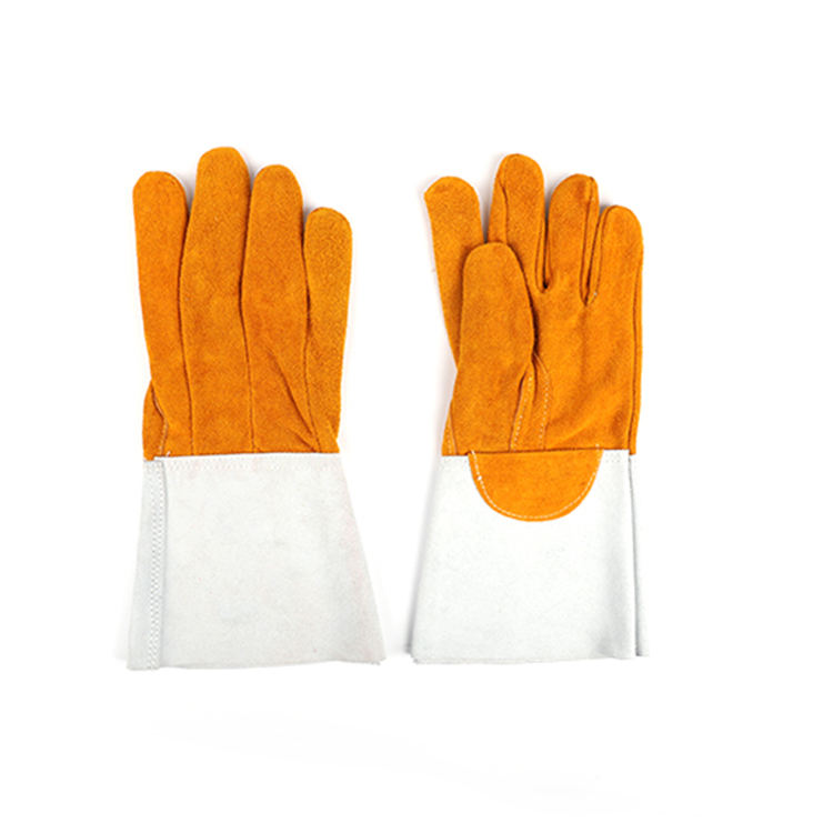 high quality cotton mechanical premium bulk argon working welding leather gloves for men