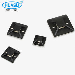 Factory Price Nylon Wall Self-adhesive Cable Tie Mount Base Cable Tie Mounts