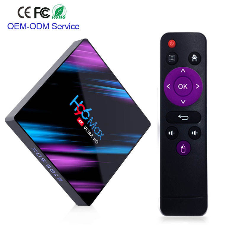 2019 newest Android TV Box H96 Max 2/16Gb Rockchip RK3318 Smart TV For Android 9.0 Box BT Built in Set Top Box IPTV