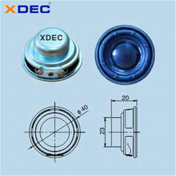 XDEC-40Y-3, D40, H20, full range frequency high performance, high quality, external magnetic, multimedia speaker unit