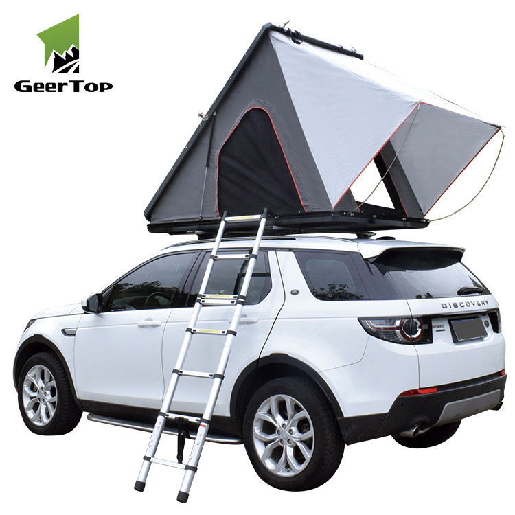 Hot Sales 1-3 People Tluminum Automatic Triangle Folding Tent Camping Professional Customized outdoor hard shell auto dach ent