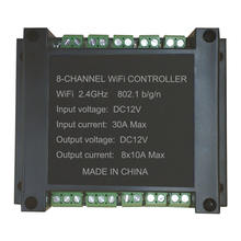 New Arrival 8 Channel Wifi Controller for  LED Strip 12V 24V Time set Smart Life App Alexa Google Home