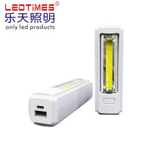 SOS Usb Rechargeable flash COB Led Work Light  Power bank