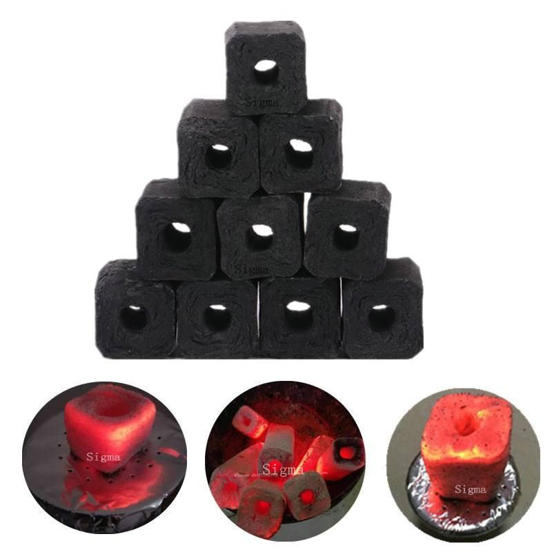 Quadrangle Long Burning hookah charcoal shisha charcoal cube Briquette Buyers
