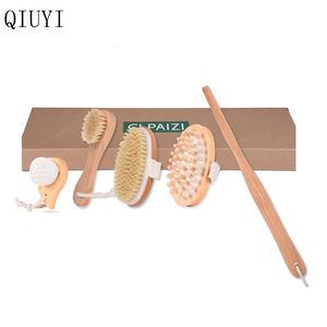 Factory OEM wet and dry bamboo body brush
