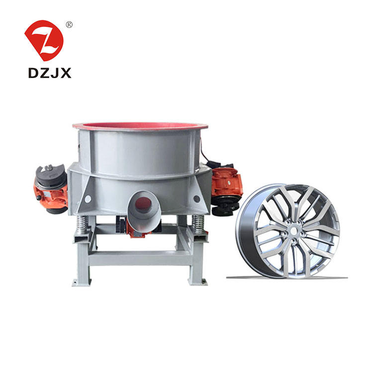 Huge capacity automatic aluminum wheels vibration polishing machine/vibratory tumbler polisher