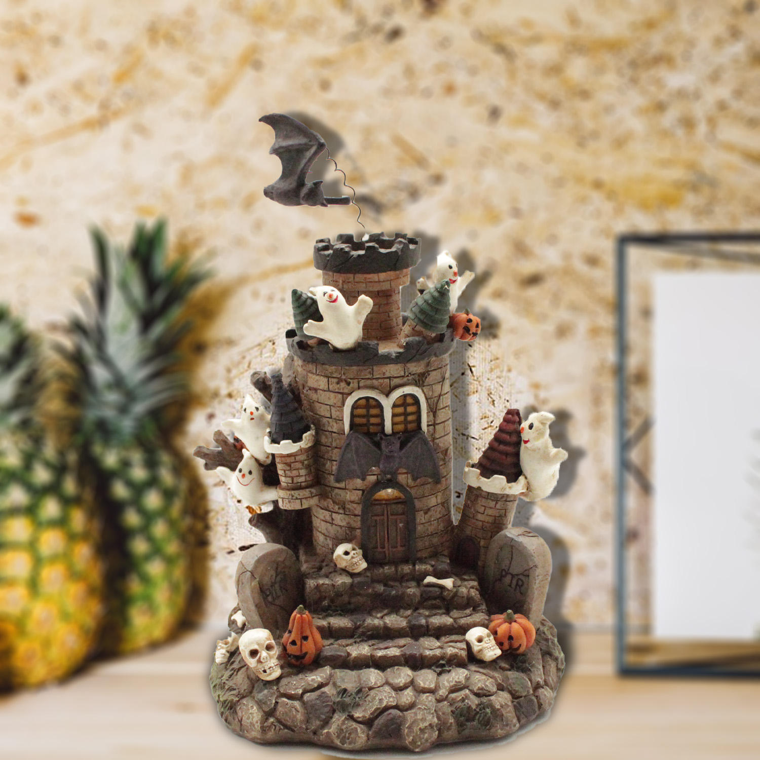 Halloween Party Decorations Castle Decoration With Pumpkins And Skulls
