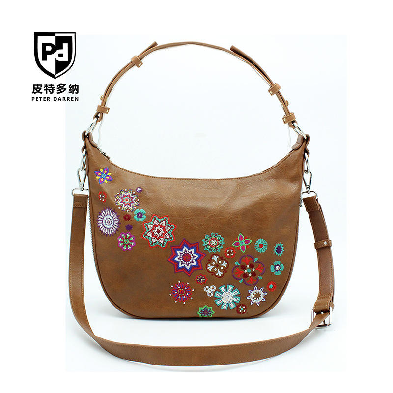 2020 PU Leather Handbags Ethnic Style Crossbody Shoulder Messenger Bag for Women