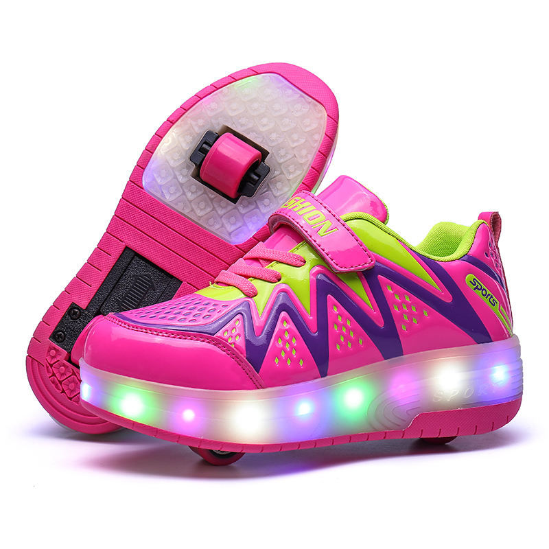Good Pattern Cheap Price Good Quality Kids Adult Light Up Flashing Roller Shoes At Stock