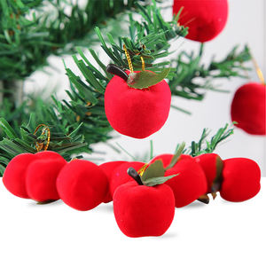12pcs New Year Decoration Red Apple Christmas Tree Ornaments Xmas tree hangings
