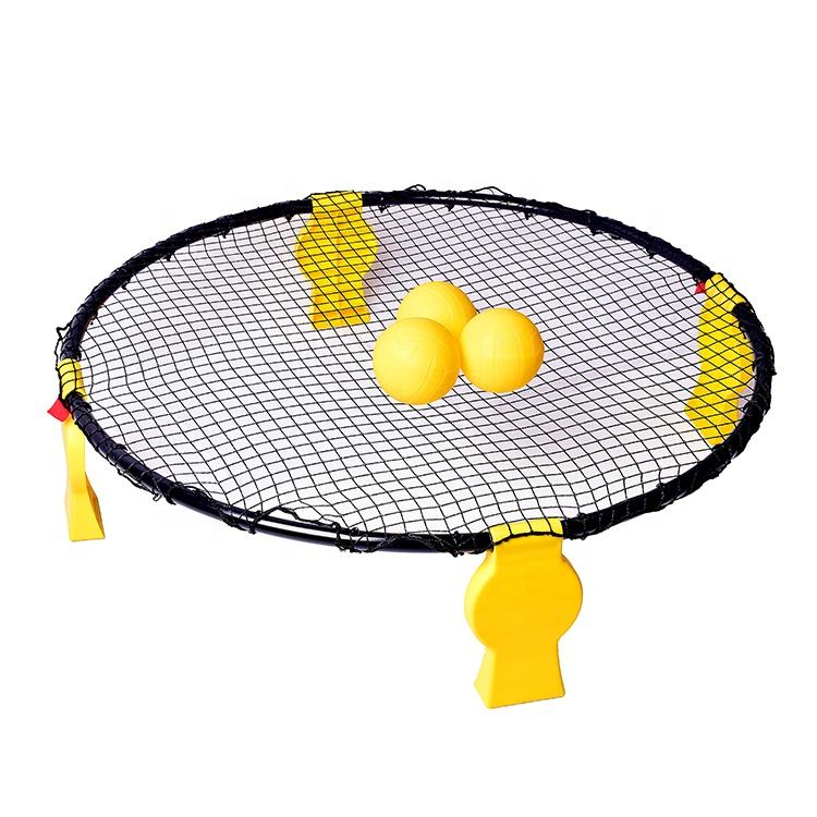 Hot Sell Steel Tube Folding Beach Picnic Grass Game Spikeball Rebound Jump Spikeball Game Set And Beach Volleyball Game Set