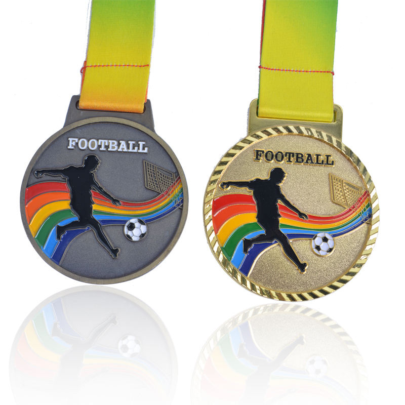 Efficient Customization Of Gold Silver And Bronze Award Winners World Championship Metal Football Medals